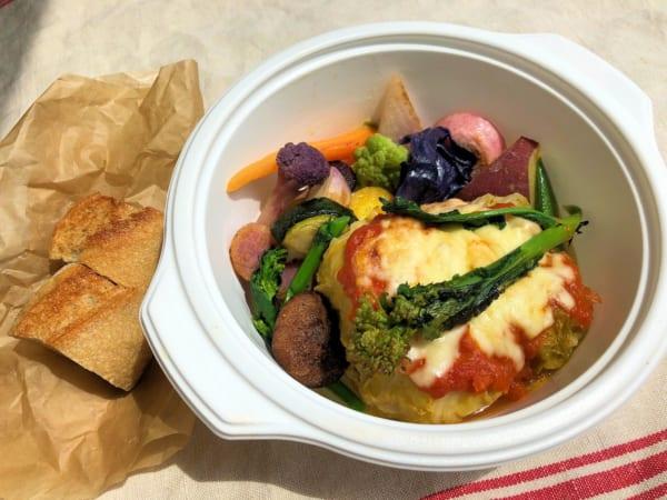 ロールキャベツのトマトソースグラタン 彩り野菜添え