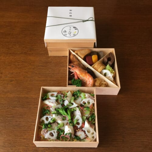 お祝いのちらし寿司弁当